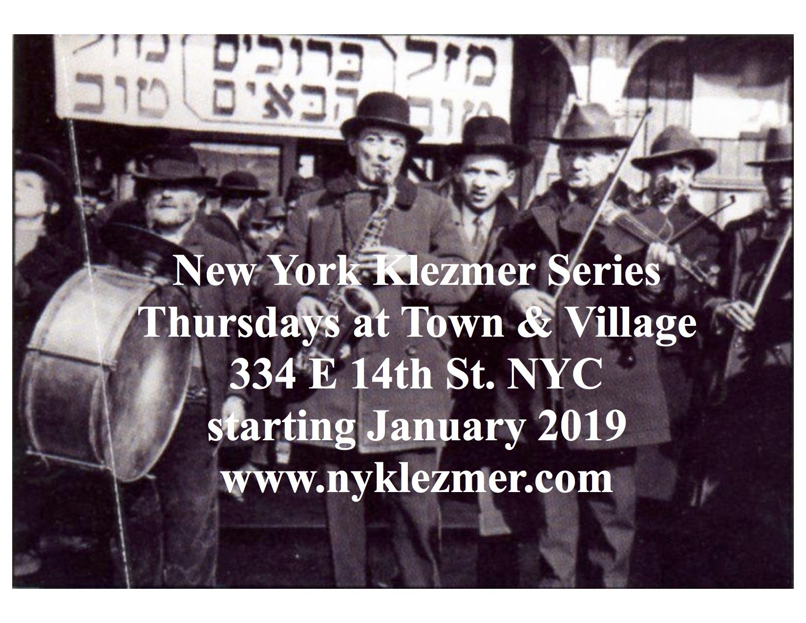 The New York Klezmer Series | Klezmer Concerts, Workshops